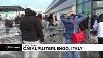 Covid-19 et quarantaine : dans le nord de l'Italie, les habitants se ravitaillent