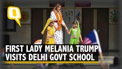 US First Lady Melania Trump Visits Delhi Government School