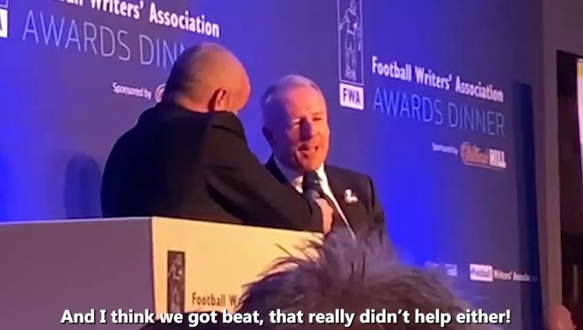 'So what's the story with the haircut?' - Kevin Ball at the Football Writers Awards Dinner