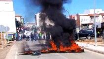 Barricadas de fuego en Jaén en el inicio de una nueva semana con el campo en pie de guerra