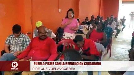 Mujer agradecida con el gobierno de rabel Correa