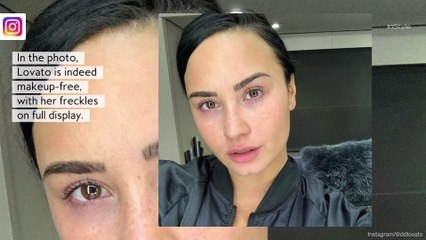 """Demi Lovato Posts a Makeup-Free Selfie For the First Time In """"Years"""""""