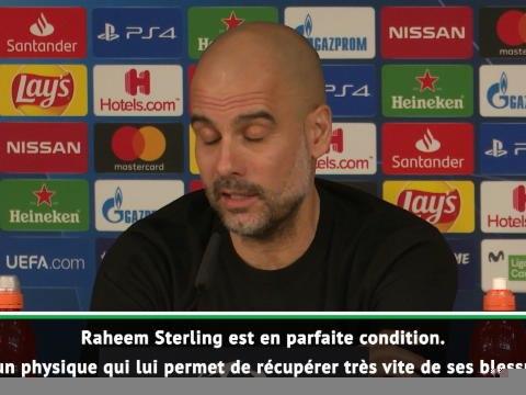8es - Guardiola annonce le retour de Sterling contre le Real