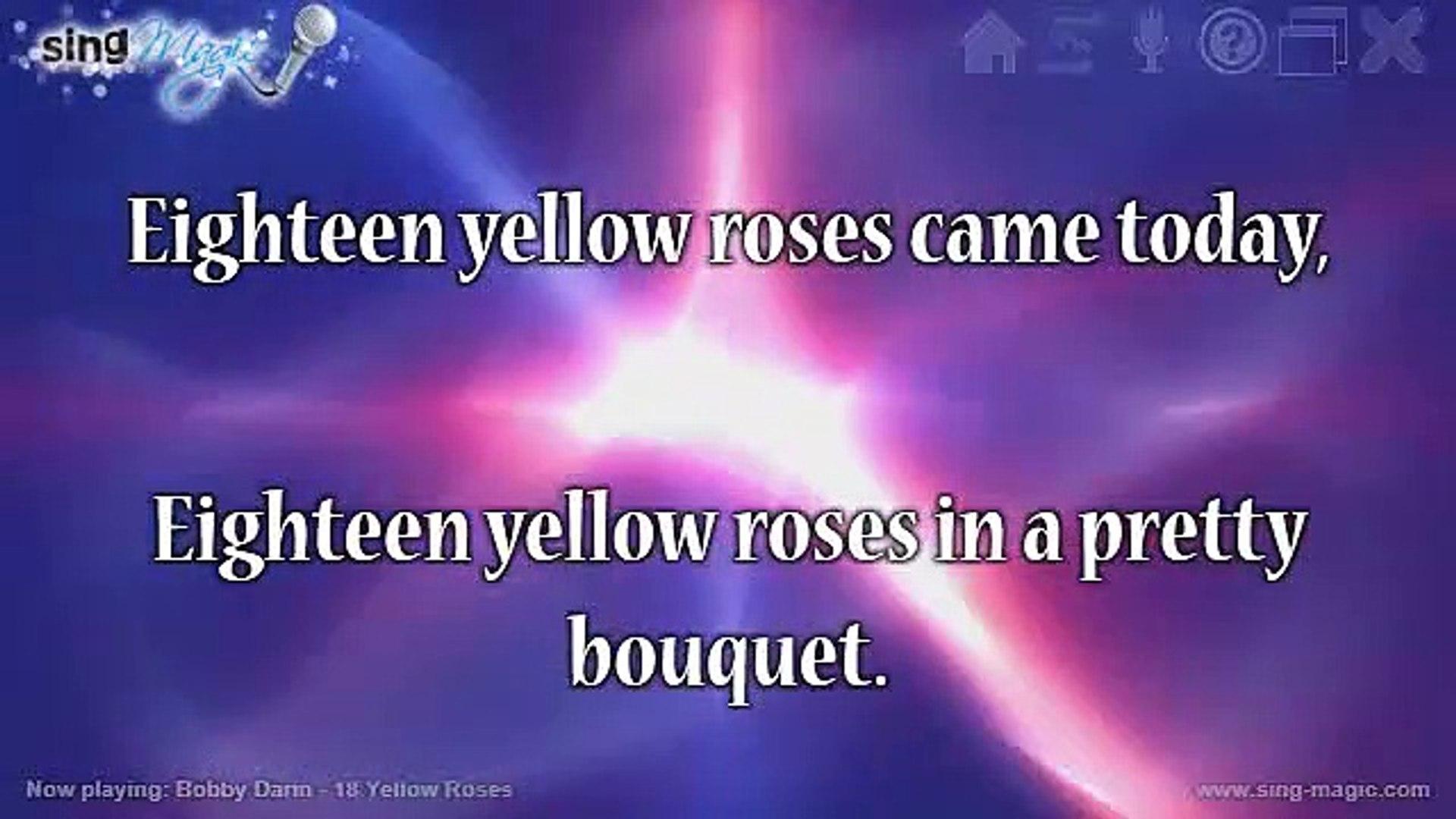 Bobby Darin - 18 Yellow Roses Karaoke Version Instrumental