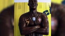 Cristiano Ronaldo a désormais sa statue en chocolat !