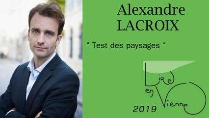 """(""""Devant la beauté de la nature"""" d'Alexandre LACROIX) Test des paysages"""
