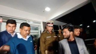 Arvind Keriwal visits North-EastDelhi DCP office