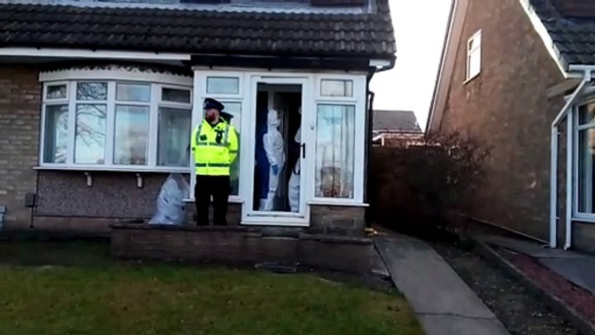 Forensics at a property on Satley Gardens in Tunstall, Sunderland