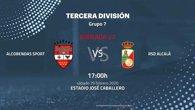 Previa partido entre Alcobendas Sport y RSD Alcalá Jornada 27 Tercera División