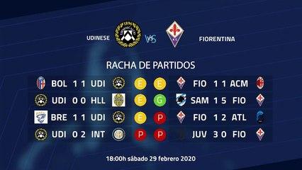 Previa partido entre Udinese y Fiorentina Jornada 26 Serie A
