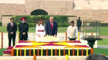 US President Donald Trump & First Lady Melania Trump Visit Rajghat