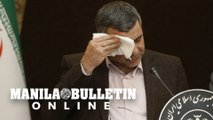 Iranian deputy minister infected with coronavirus wipes sweat off forehead