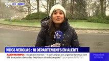 Les premiers flocons de neige tombent à Beauvais