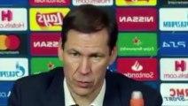 Football - Champions League - Rudi Garcia en conférence de presse après Lyon 1-0 Juventus