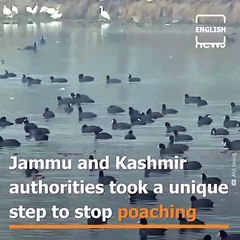Jammu and Kashmir authorities took a unique step to stop poaching
