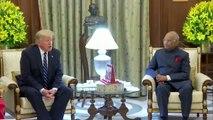 Donald Trump au dîner à Rashtrapati Bhavan en Inde
