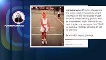 "Maria Sharapova dit ""goodbye"" au tennis"