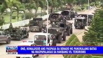 DND, ikinalugod ang pagpasa ng Senado sa panukalang batas na magpalakas ng hakbang vs terorismo