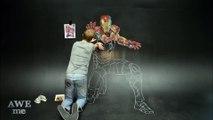 Iron Man's Armor - 3D Chalk Art Animation!