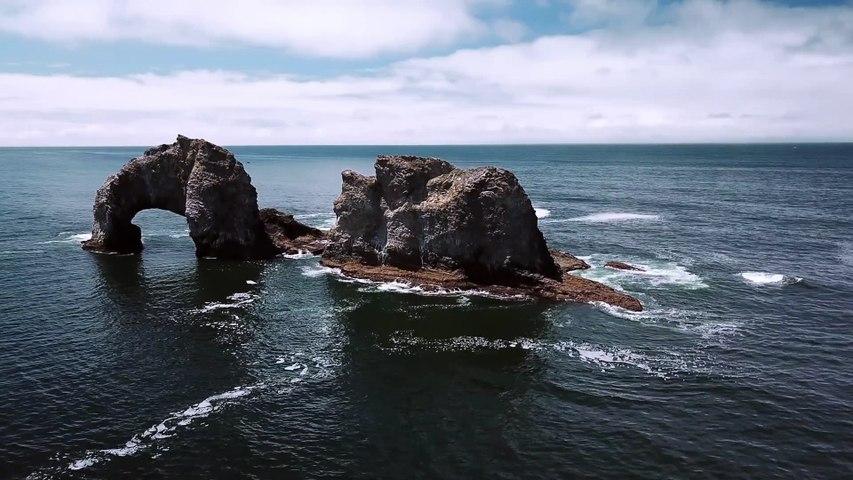 Drone view - arc of rocks