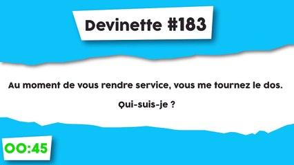 Devinette #183 : Rend service