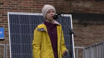 'The world is on fire,' Greta Thunberg tells UK climate rally