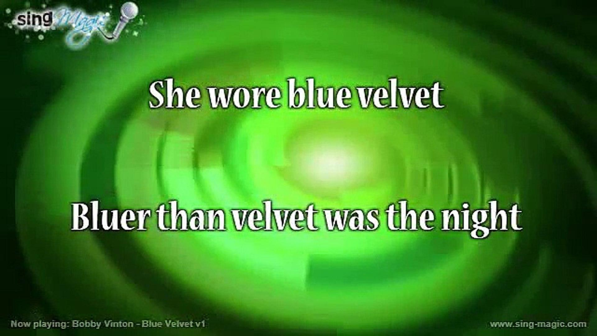 Bobby Vinton - Blue Velvet v1 Karaoke Version Instrumental