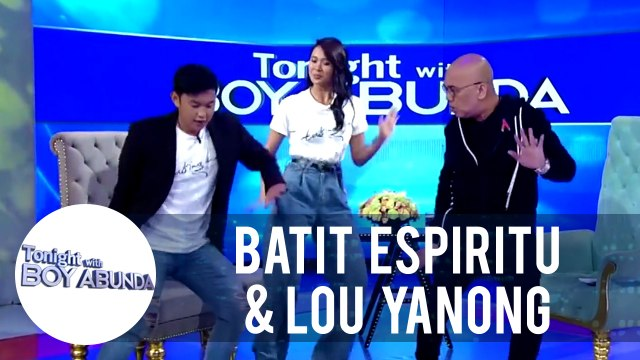 """Batit and Lou delight the audience as they sample a scene from """"Tabing Ilog The Musical"""" 