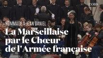 Hommage à Jean Daniel : la Marseillaise par la soliste Omo Bello et le Chœur de l'Armée française