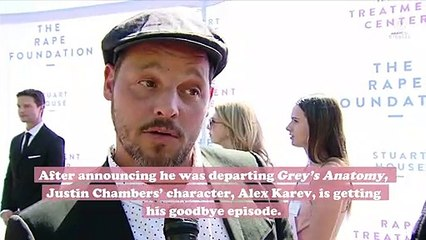Prepare the tissues because Justin Chambers' Alex will get a goodbye episode of Grey's Anatomy