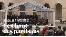 Hommage à Jean Daniel : Le Chant des partisans par le Chœur de l'Armée française