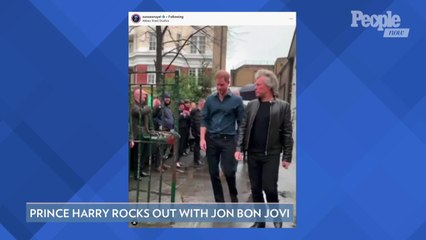 Prince Harry Rocks Out with Jon Bon Jovi at Famed Abbey Road Studios for a Special Cause