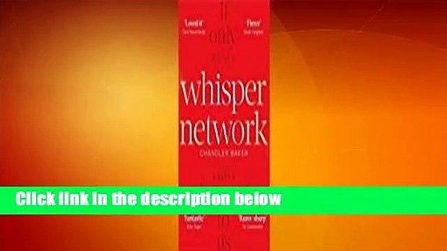 Full E-book  Whisper Network  For Kindle