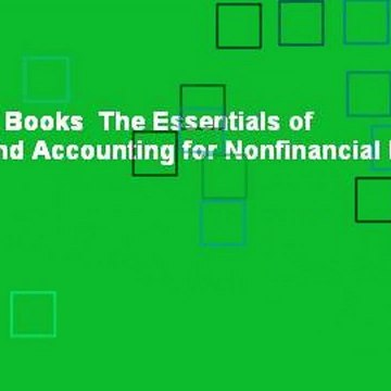About For Books  The Essentials of Finance and Accounting for Nonfinancial Managers  For Free