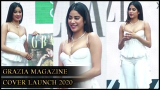 Janvhi Kapoor's H0T And BOLD Look In White At Grazia Magazine Cover Launch 2020