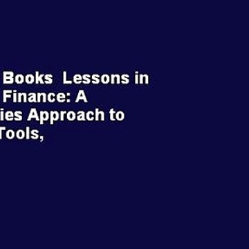 About For Books  Lessons in Corporate Finance: A Case Studies Approach to Financial Tools,