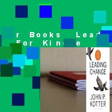 About For Books  Leading Change  For Kindle