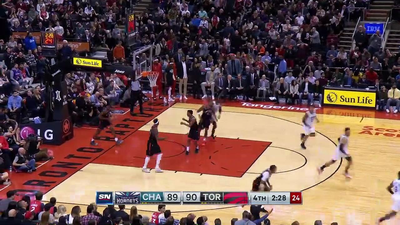 Charlotte Hornets 99 - 96 Toronto Raptors