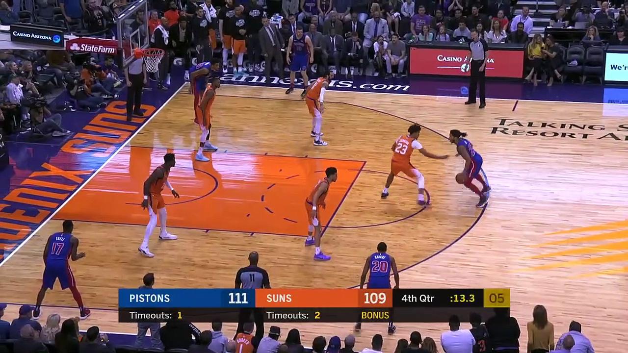 Detroit Pistons 113 - 111 Phoenix Suns
