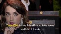 César 2020 : Roman Polanski sacré, Adèle Haenel quitte la cérémonie