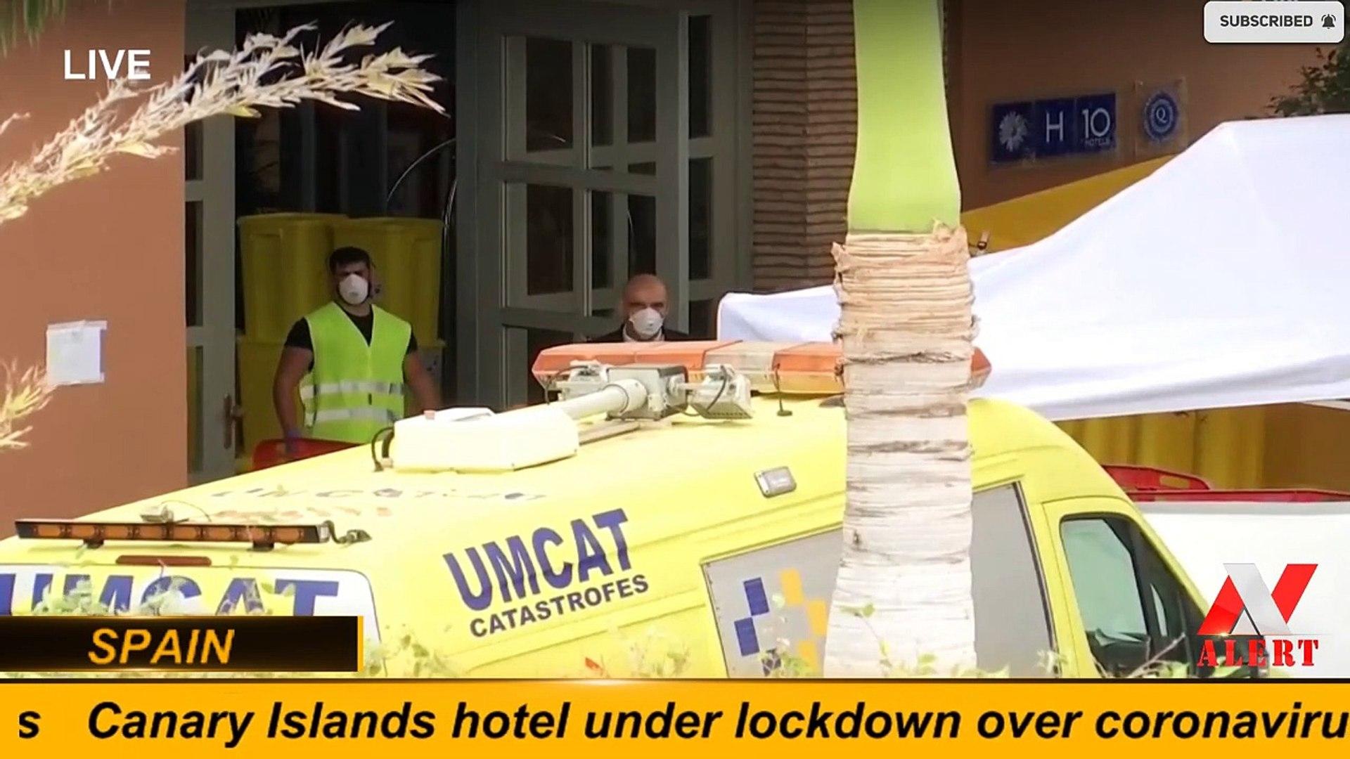 Canary Islands hotel under lockdown over coronavirus -- SPAIN