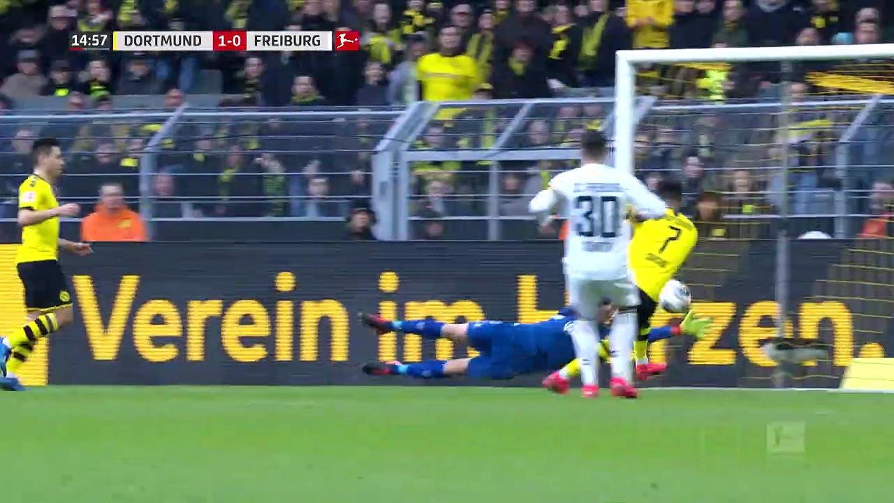 Borussia Dortmund - Freiburg (1-0) - Maç Özeti - Bundesliga 2019/20