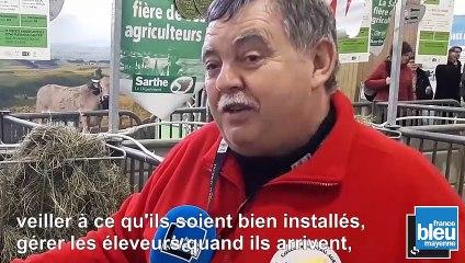 Jean Pierre Audebert, habitant de Pré d'Anjou,  le plus ancien commissaire de concours du Salon International de l'Agriculture