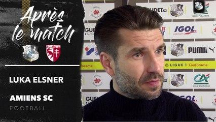 Après le match, Amiens SC - FC Metz, Luka Elsner