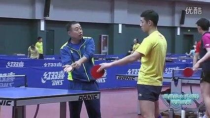 Xu Xin Forehand Flick With Coach