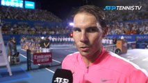 Nadal 'super happy' after completing Acapulco hat-trick
