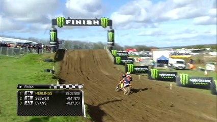 Tim Gajser down - Race 1 MXGP  of Great Britain - motocross
