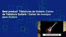 Best product  Tablatures de Guitare: Cahier de Tablature Guitare : Cahier de musique pour Guitare