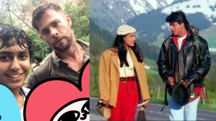 Chris Hemsworth recites Shah Rukh Khan's iconic Dilwale Dulhania Le Jayenge dialogue