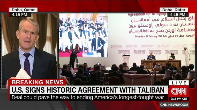 US signs historic deal with Taliban
